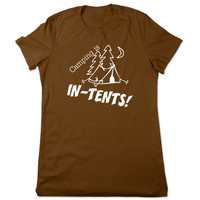 Funny Shirt, Camping Shirt, Camping is Intents, In Tents, Funny TShirt, Camping Tshirt, Funny Tee, Funny T Shirt, Ladies Women Plus Size