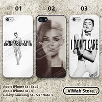 Miley Cyrus iPhone case iPhone 4 case iPhone 4s case iPhone 4g case Miley Cyrus style iphone 4 case skin cover Hard Case Soft Case - mc02