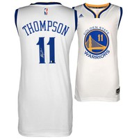 Autographed Golden State Warriors Klay Thompson Fanatics Authentic White Swingman Jersey