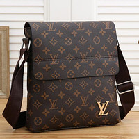 LV Men Fashion Leather Crossbody Satchel Shoulder Bag