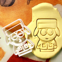 Kyle Broflovski South Park Cookie Cutter - Made from Biodegradable Material