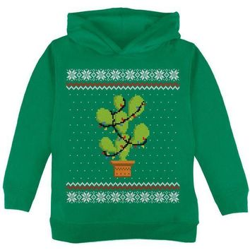 CREYON Cactus Prickly Pear Tree Ugly Christmas Sweater Toddler Hoodie