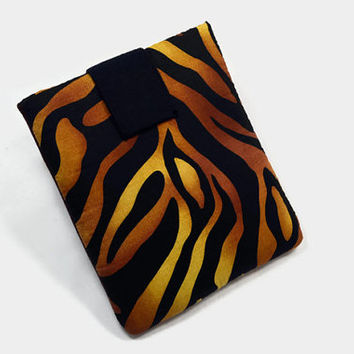 Hand Crafted Tablet Case from Zebra Print  Fabric /Case for:iPadmini, Kindle Fire HD7, Samsung Galaxy Tab7, Google Nexus 7,Nook HD 7