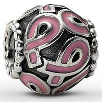 Pink and Silver Pandora-style Charm
