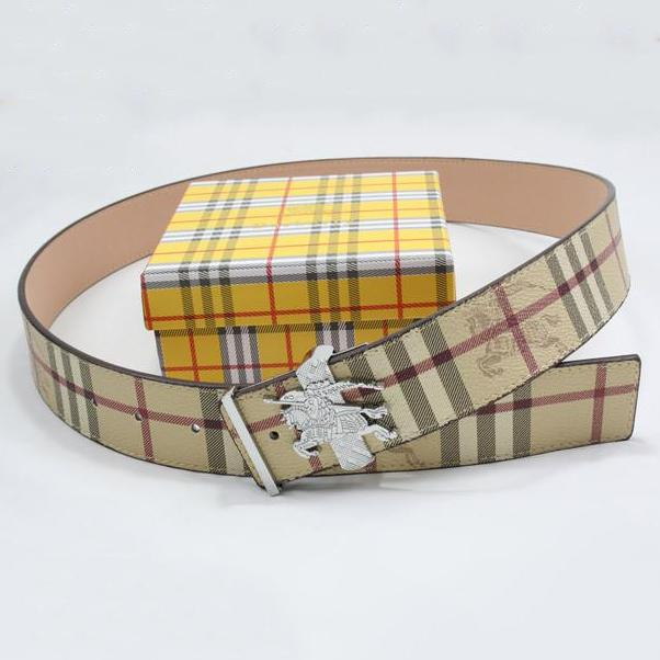 Image of BURBERRY Men Woman Fashion Smooth Buckle Belt Leather Belt