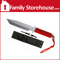 Hunting Knife with Paracord, Fire Starter & Whistle