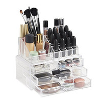 Beautify Acrylic Cosmetic Makeup Organizer - 20 Sections with 4 Drawers
