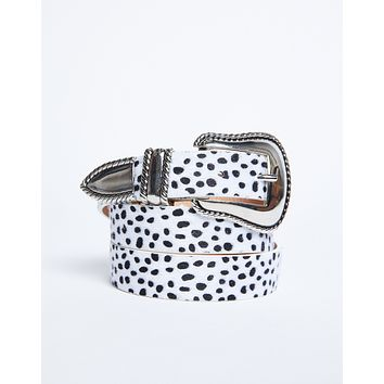 Dalmatian Spotted Fur Belt