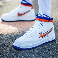 Nike Air Force 1 High LV8 New fashion hook men high top shoes White