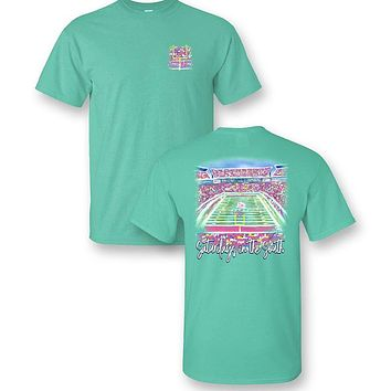Sassy Frass Saturdays In The South Football Comfort Colors T-Shirt