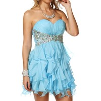 Jeweled Short Dress