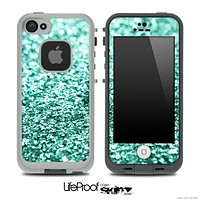 Glimmer Aqua Green Skin for the iPhone 5 or 4/4s LifeProof Case