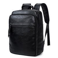 QWEEK 2017 New Pu Backpack, Maletravel Backpack Multi-function Laptop Computer Bag Youth Backpacks Business Mochila Notebook