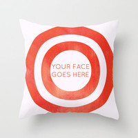Your Face Goes Go Here Throw Pillow by Caleb Troy | Society6