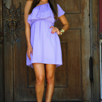 Unconditional Love One Shoulder Dress: Purple | Hope's