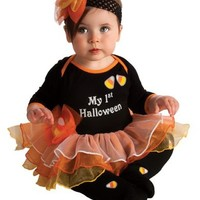 Rubie's Costume My First Halloween Tutu And Onesuit, Black, 6-12 Months
