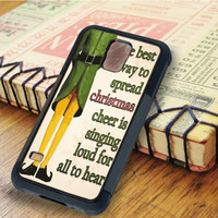 Christmas elf Quotes Christmas peterpan   For Samsung Galaxy S6 Cases   Free Shipping   AH0179