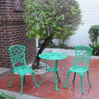 Michael Anthony Furniture Ivy Green Cast Aluminum Outdoor 3-Piece Bistro Set