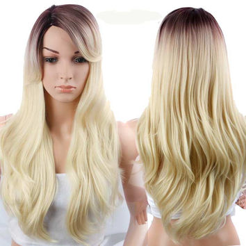 Blonde Wig With Highlights