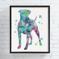 Watercolor Boxer Print, Boxer Art, Boxer Wall Decor, Boxer Gifts, Boxer Poster, Dog Decor, Dog Art Print, Watercolor Dog, Framed Art