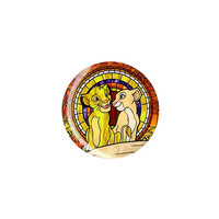 Disney The Lion King Simba And Nala Stained Glass Pin