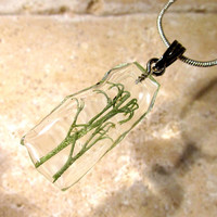 Lichen (Cladonia sp.) Necklace, Moss Jewelry, Leaf Jewellery, mycology, fungi, woodland, nature, rustic