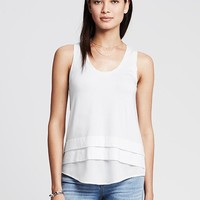 Banana Republic Womens Colorblock Shirttail Tank