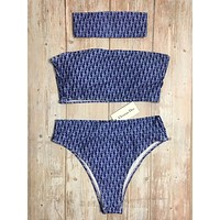 Dior Fashion bikini three pieces of headscarf shy Three piece set