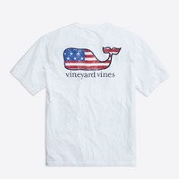 Flag Whale Graphic T-Shirt