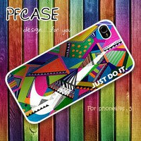 Nike just do it on aztec : Case For Iphone 4/4s ,5 / Samsung S2,3,4