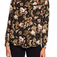 Philosophy Apparel | Floral Patterned Long Sleeve Button Down Blouse | Nordstrom Rack
