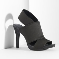 Simply Vera Vera Wang Women's Stretch Open Toe Dress Heels (Black)