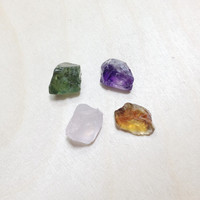 Raw amethyst, citrine, apatite, rose quartz crystal mixed lot // B*2897