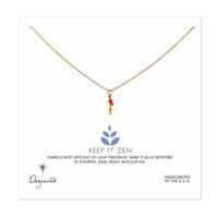 keep it zen teeny bamboo necklace, gold dipped, 18 inch