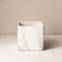 Square Marble Plant Pot | Urban Outfitters