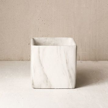 Square Marble Plant Pot   Urban Outfitters