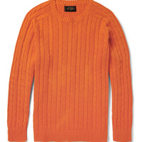 Beams Plus - Cable-Knit Linen and Cotton-Blend Sweater | MR PORTER