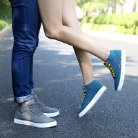 Winter new men and women's shoes and trend of Korean all-match plus velvet male high help warm couples leisure shoes = 1929948100