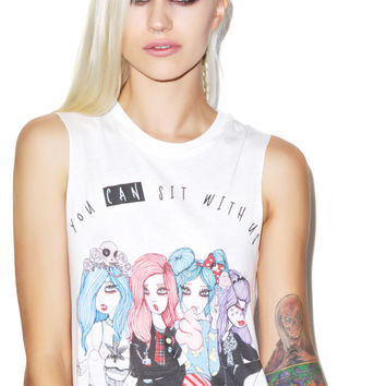 Valfré You Can Sit With Us Muscle Tee Ivory