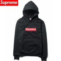 Supreme new early fall, thin lovers' casual jackets embroidered with caped hoodies