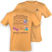 Simply Southern Vitals Of A Preppy Beach Weekend Prep Girlie Bright T Shirt