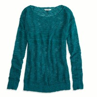 AEO FACTORY MARLED KNIT SWEATER