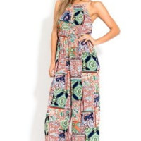 Halter Tribal Jumpsuit
