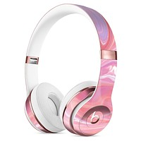 Marbleized Pink Paradise Full-Body Skin Kit for the Beats by Dre Solo 3 Wireless Headphones