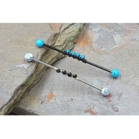 16g Turquoise Industrial Barbell