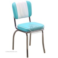 Channel Back Kitchen Diner Style Chair - RetroPlanet.com
