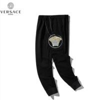 Versace New fashion embroidery human head letter pants Black