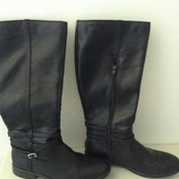 Candies Leather Boots Size 10