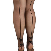 Pretty Polly Darling Back Seams to Me Tights in Plus