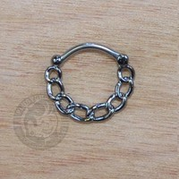Hematite Chain Septum Clicker